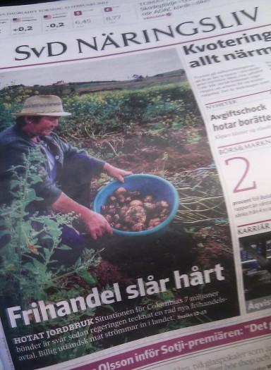 Framsidan på Svenska Dagbladet Näringsliv