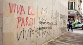 Graffiti på en vägg i Bogotá
